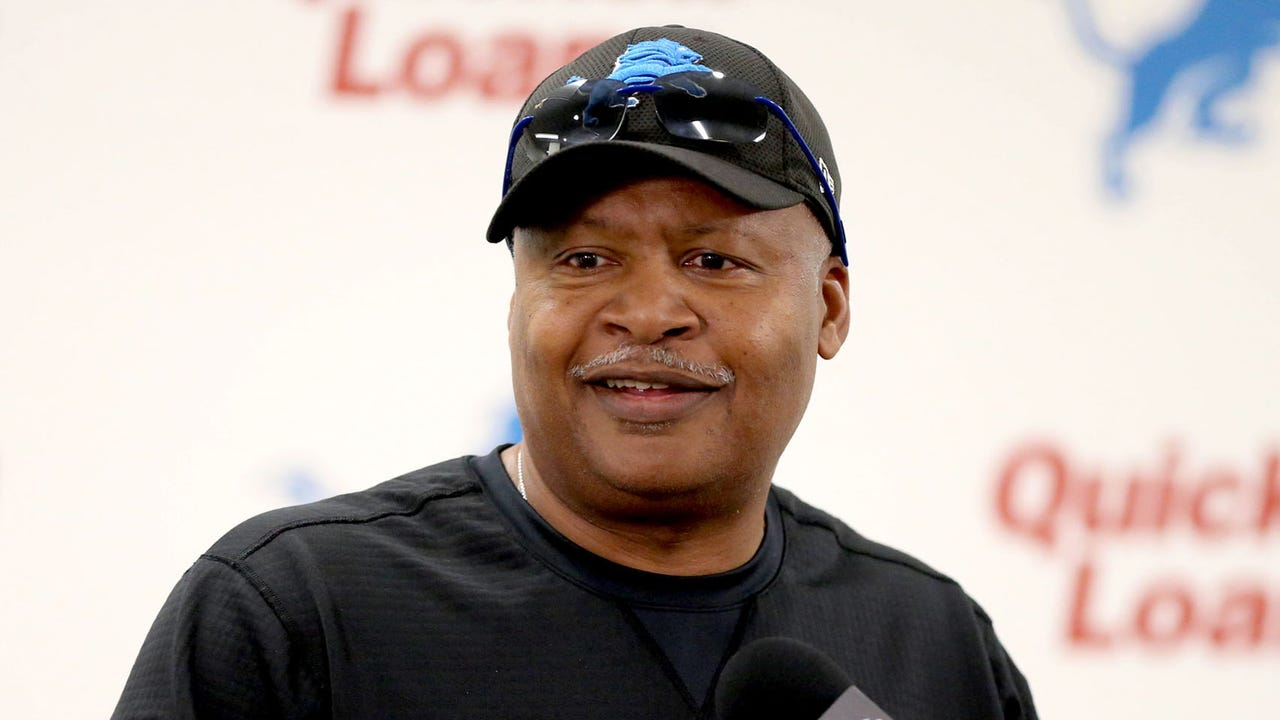 Lions coach Jim Caldwell addresses the media after the exhibition win over the Jets on Saturday, Aug. 19, 2017, at Ford Field.  Video by Dave Birkett/DFP