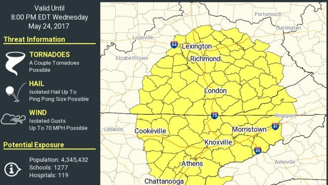 Tornado watch issued on May 24, 2017.