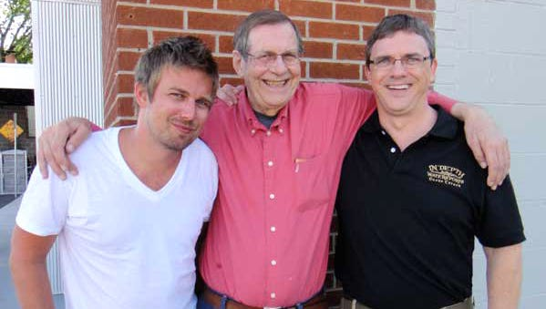 Glenn Reynolds, right, with his brother and his father in 2010.