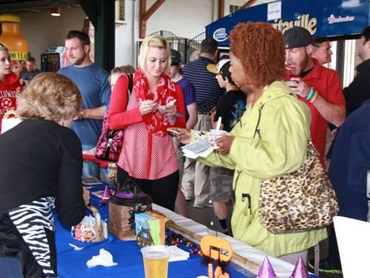 A scene from a past chili cook off from the Montgomery