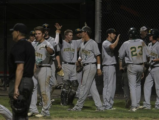 Photo by Andreas Fuhrmann/Record Searchlight Red Bluff High's baseball team could be seeded second in Division I if it wins the series against Shasta this week.