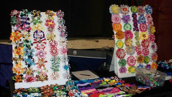 Handmade hair accessories will be available at the Spring Fling.