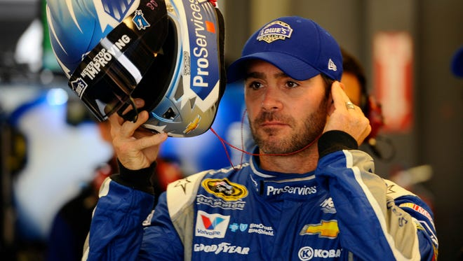 """Jimmie Johnson says of Hendrick Motor Sports, """"I'm home. I'm not going anywhere."""""""