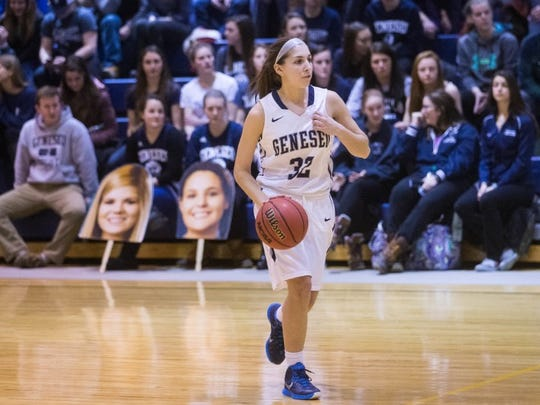 Kelsey Annese was a team captain as a senior at SUNY Geneseo in 2016 and as a junior and senior on Webster Schroeder's basketball team.