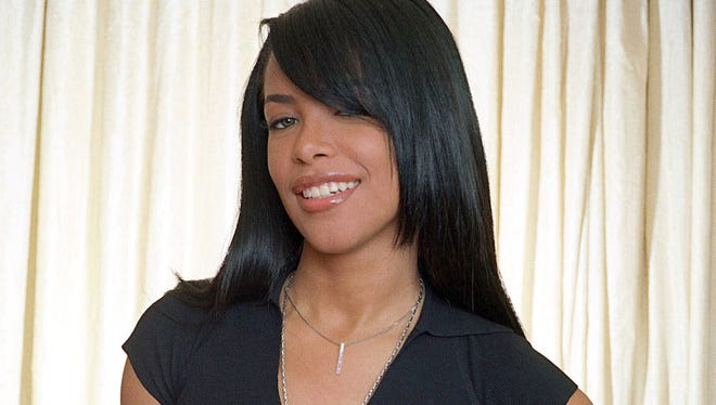 Singer Aaliyah in New York on May 9, 2001.