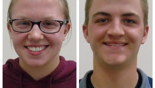 Delta High School seniors Anna Groover (left) and Nicholas Bantz (right) were named the recipients of the 2016 Lilly Endowment Community Scholarships