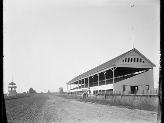 A new mile-long racetrack and grandstand are built in 1893 at the Oregon State Fairgrounds.