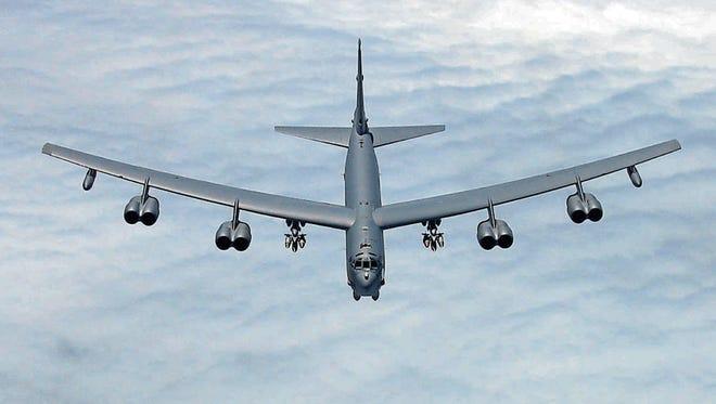 Boeing B-52H Stratofortress bomber.