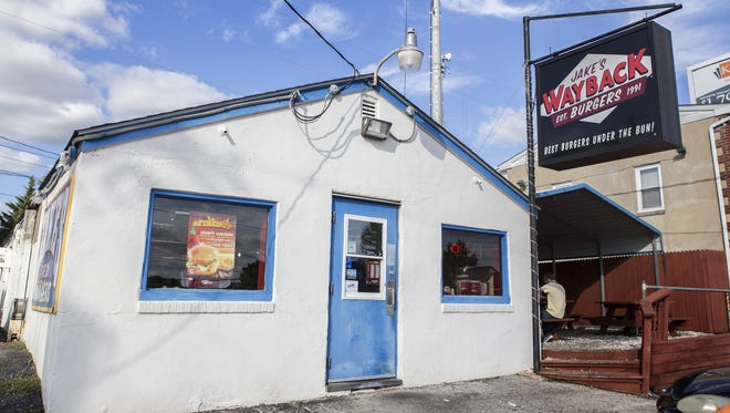 Jake's Wayback Burgers on Ogeltown Road in Newark on Monday afternoon.