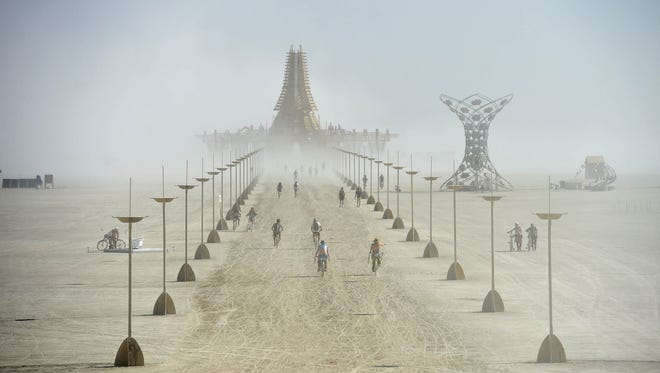 Images of people at Burning Man 2017 in the Black Rock Desert of Nevada.