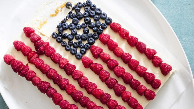 This recipe for flag cake is from America's Test Kitchen.