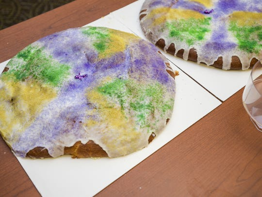 A king cake from La Fille, Son Chien, Le Pain is pictured in this Advertiser file photo.