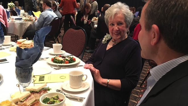 Marilyn Kay Stickle attends the 24th annual VIVA luncheon April 12, 2016. Stickle received the Lifetime Achievement award for her volunteer work at IU Health Ball Memorial.