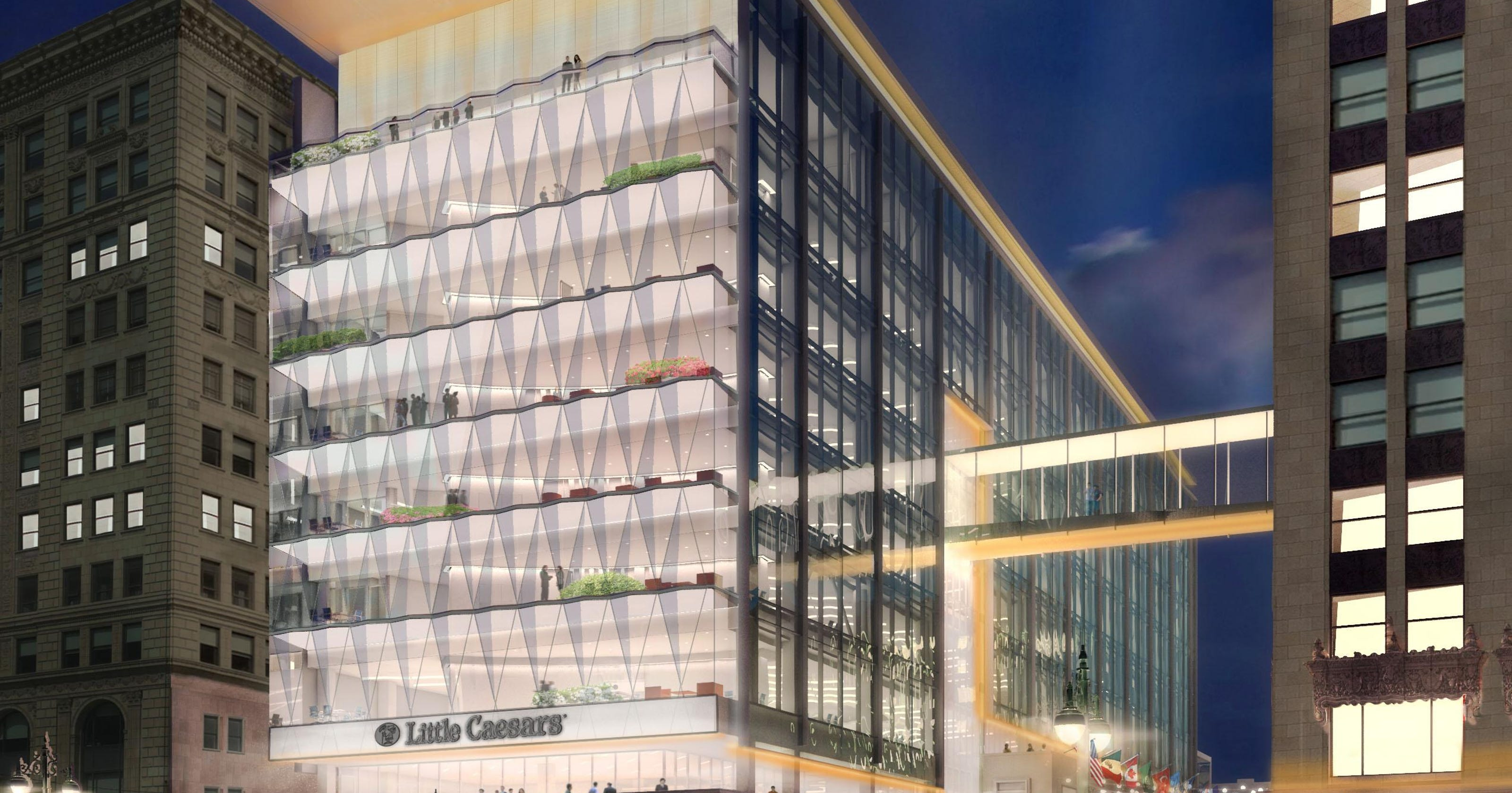403417d2d6c New Little Caesars headquarters will have windows shaped like pizza slices