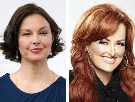 Actress Ashley Judd, left, and country music star Wynonna Judd, right.