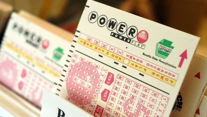 Powerball tickets await players at a convenience store in this file photo.