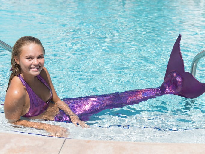 "Saige Popson, a senior speech pathology major, was The Mermaid Academy's first ""Mermaid Instructor."""
