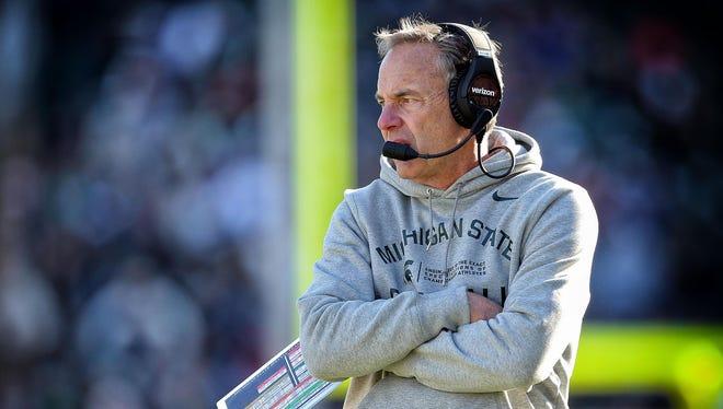 Michigan State head football coach Mark Dantonio