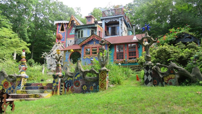 The eclectic Luna Parc art museum has artifacts and artistic creations in every nook and cranny.