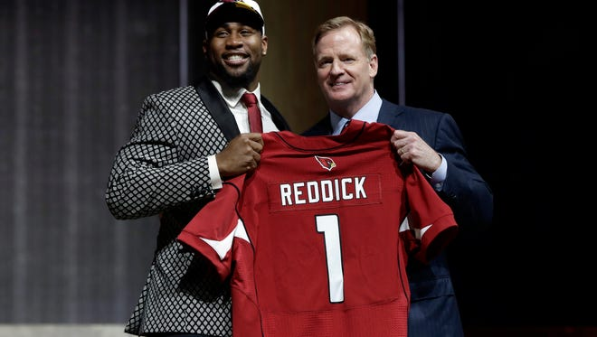 Camden native and Haddon Heights alum Haason Reddick was selected 13th overall by the Arizona Cardinals.