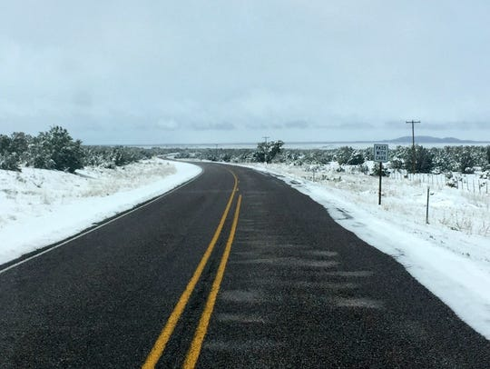 Roads were clear despite a heavy snow in Corona.