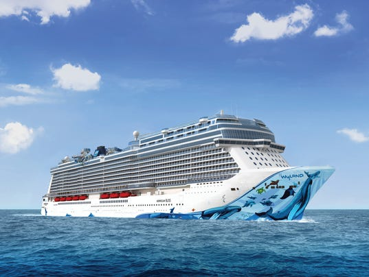 Norwegian Bliss Giant New Norwegian Cruise Line Ship To Sail From - Image of cruise ship
