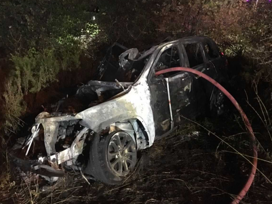 A 27-year-old woman was pulled from the passenger side