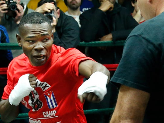 Guillermo Rigondeaux during a media workout this week