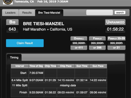 Johnny Manziel's wife denies she cheated at a half marathon, stands by world-record pace