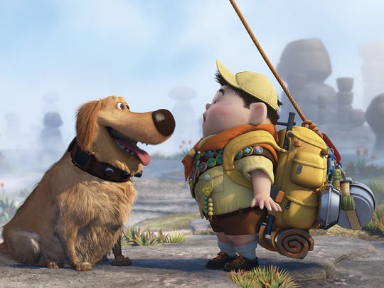 "Dug and Russell in a scene from ""Up."" Squirrel!"