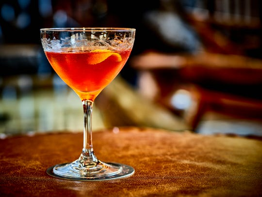 A barrel-aged Negroni from the Apparatus Room bar.