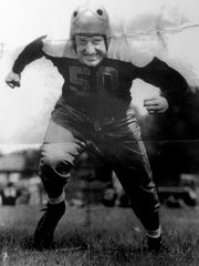 Erv Dzierzewski was a guard on the 1944 Green Bay Packers. He was cut from the team and shortly afterward joined the army. He is shown in a 1944 photo.