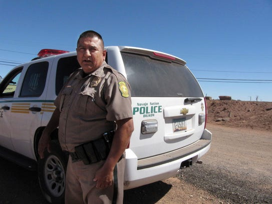 In this Sept. 23, 2009 photo, Navajo Nation police