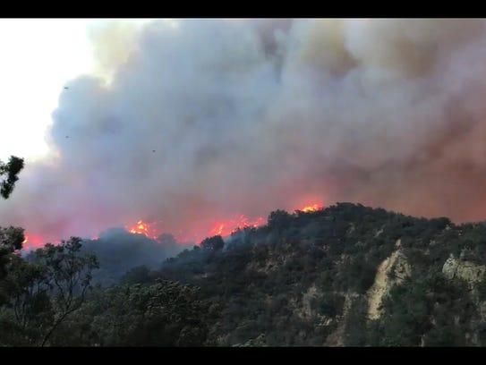 A handout photo made available by Santa Barbara County