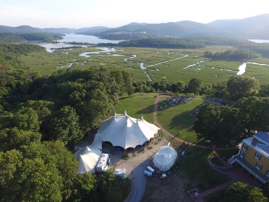 The tent at Boscobel House and Gardens has been pitched once again as The Hudson Valley Shakespeare Festival's 32nd summer season begins.