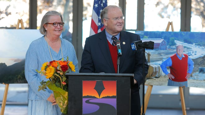 U.S, Congressman Sam Farr, D-Carmel, announces his retirement Thursday at the National Steinbeck Center in Salinas.