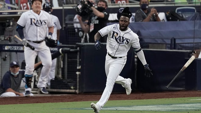 Rookie Randy Arozarena has hit seven home runs in the postseason  for the Rays, who are in the World Series for only the second time.