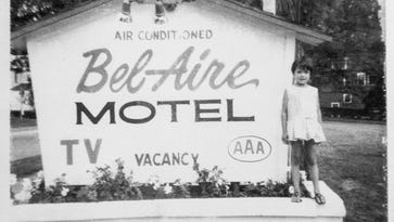Becky Bouchard, then four years old, is seen in a family photo from 1967 at the Bel-Aire Motel on Shelburne Street in Burlington. Bouchard's parents, Herb and Peggy, operated the motel from 1967 to 1985. They lived there with along with children Brenda, Chris, and Jon. The motel is being converted into an 8-unit apartment complex by Champlain Housing Trust.