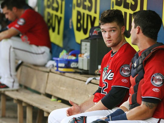 Fort Myers Miracle pitcher Kohl Stewart relaxes between innings against the St. Lucie Mets at Hammond Stadium on Thursday in Fort Myers.