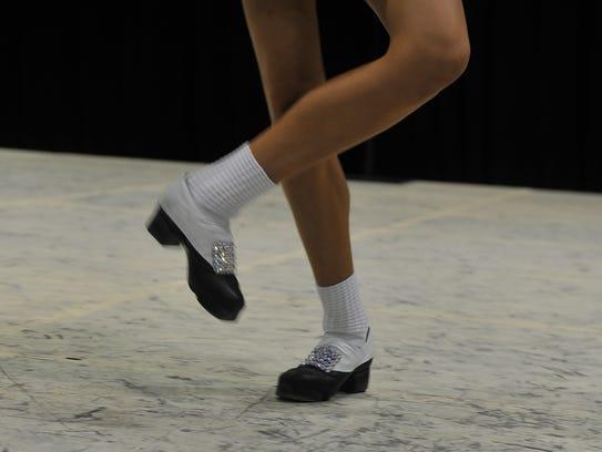 Irish dancers performed multiple routines Saturday