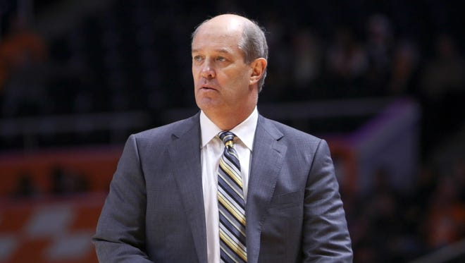 Vanderbilt coach Kevin  Stallings during the first half against Tennessee on Jan. 20, 2016 at Thompson-Boling Arena.