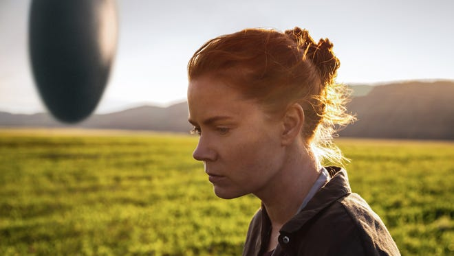 Amy Adams plays Louise Banks, a linguist hired to decipher an alien language, in the upcoming film 'Arrival.'