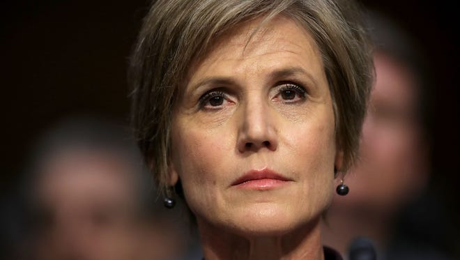Former acting U.S. Attorney General Sally Yates testifies before the Senate Judiciary Committee's Subcommittee on Crime and Terrorism in Washington, D.C., on May 8, 2017.