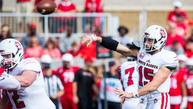 USD quarterback Chris Streveler returns to action on Saturday vs. UNI after sitting most of the Coyotes' 42-0 win over Southern Illinois with an injured shoulder.