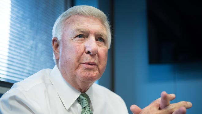 Interim Greenville County Sheriff Johnny Mack Brown talks about their 911 call center on Tuesday, May 15, 2018.