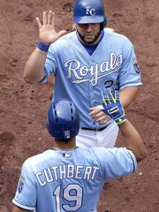 The Kansas City Royals celebrated a lot during the first half of the season. They have the best record in the American League.
