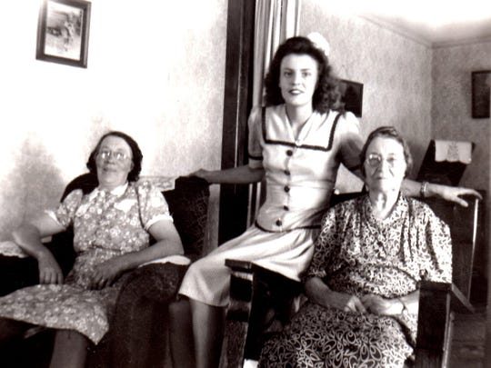 Jaclyn Mekemson's grandmother, Agatha Hooyboer Duyne, served a grape juice pudding that is now enjoyed by a fourth generation. Seated beside her are Mekemson's mother, Virginia, and great-grandmother, Marie Beers Hooyboer.