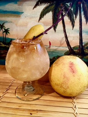 Fla Ha 'ule Lau Cocktail, or Florida Autumn Leaf Cocktail, uses rum infused with grapefruit and cinnamon.