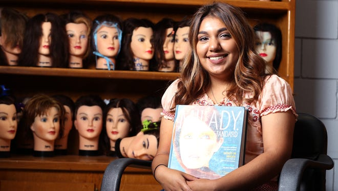 Robstown High School student Nicki Rae Pena was named as a Corpus Christi Caller-Times Distinguished Scholar in the category of achiever. Despite personal challenges, she hasn't given up on school and is enrolled in cosmetology classes.