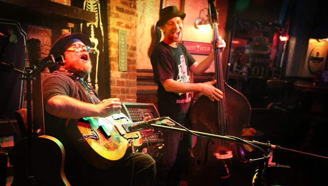 The Hoodoo Men, Bill Steber and Sam Baker, Brewery, will have a CD release party from 7-9 p.m. Saturday at Mayday Brewery.
